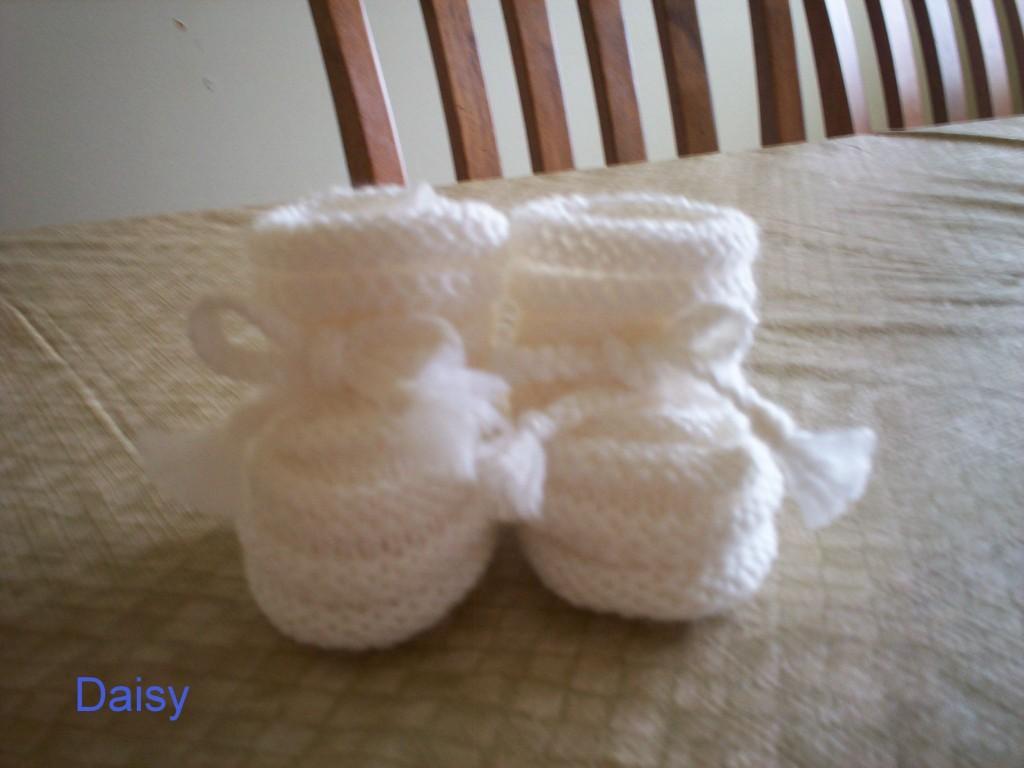 patron tricot chausson bébé gratuit