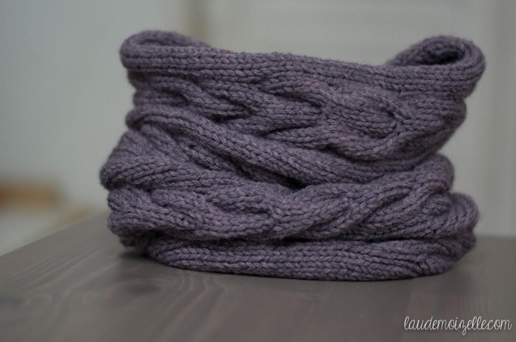 Création modèle echarpe tricot aiguille 10 f350ab5a56c