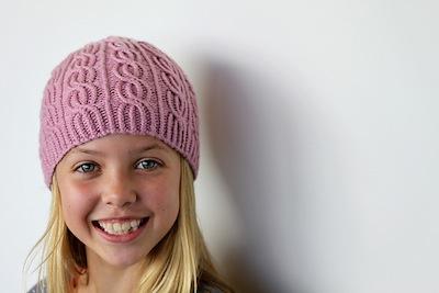 Bonnet fillette à tricoter