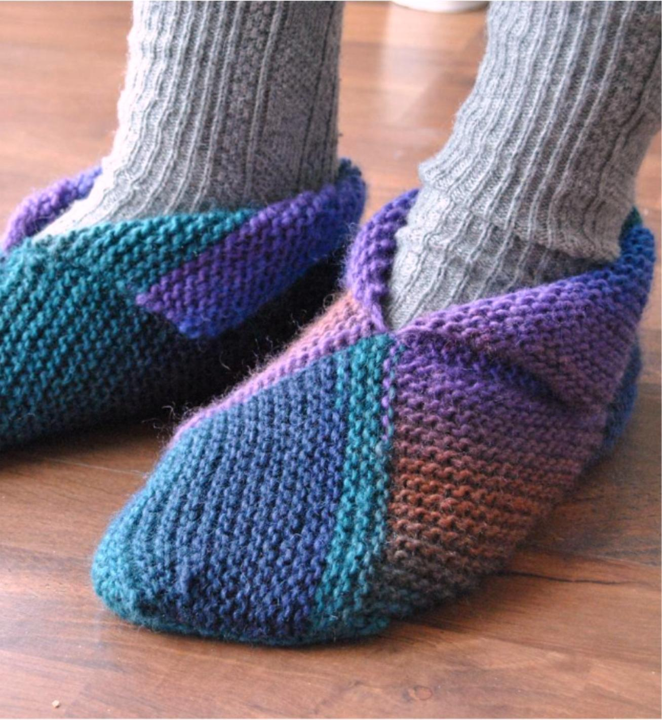 modele tricot chausson chaussette