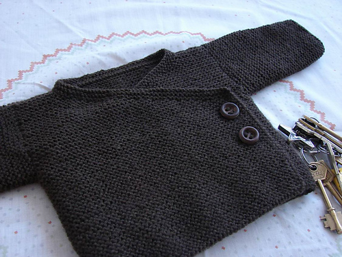 modèle tricot gilet debutant