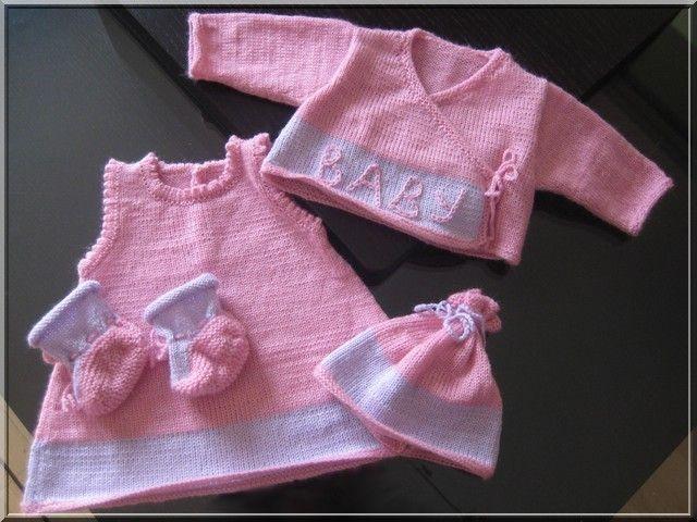 modèle tricot layette fille gratuit
