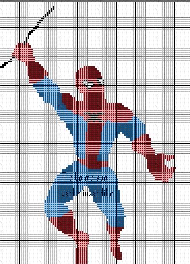 Mod le tricot spiderman gratuit - Spider man gratuit ...