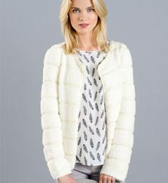 cr ation mod le tricot veste en laine femme. Black Bedroom Furniture Sets. Home Design Ideas