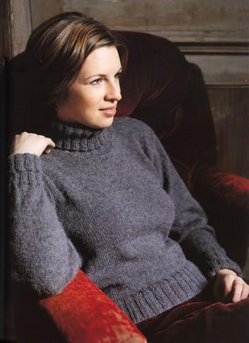 modèle tricot pull col roule