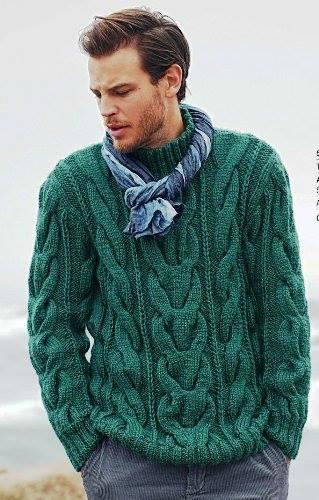 modèle tricot pull homme torsade