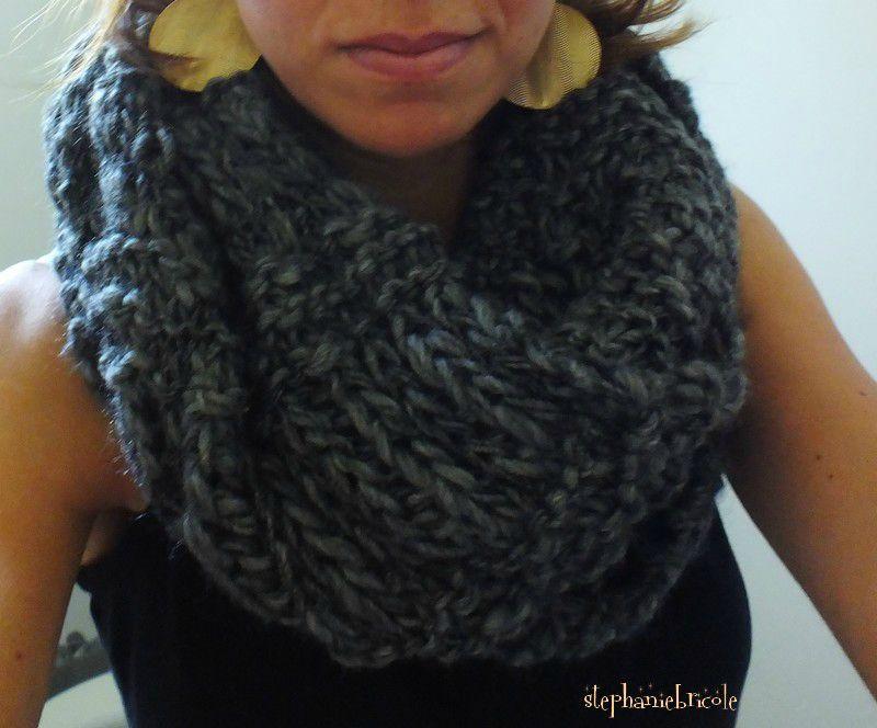 modèle echarpe tricot aiguille 10