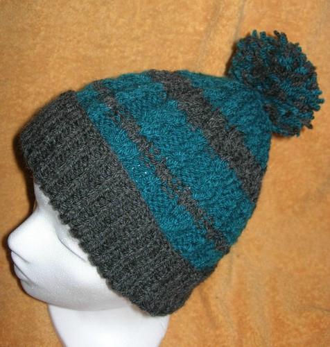 tricoter un bonnet a quatre aiguilles