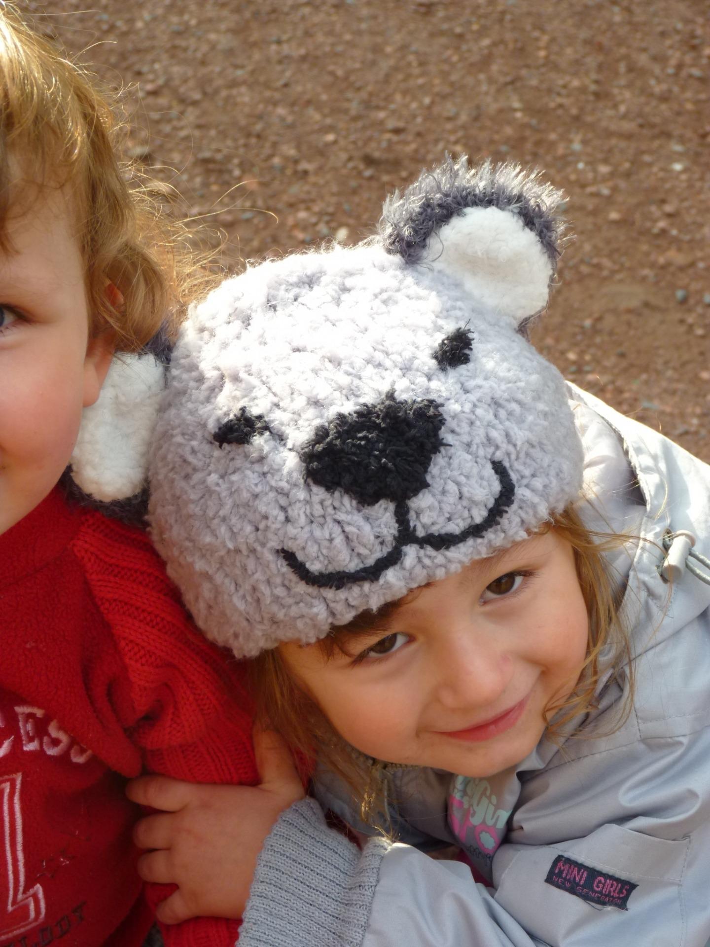 tricoter un bonnet ourson