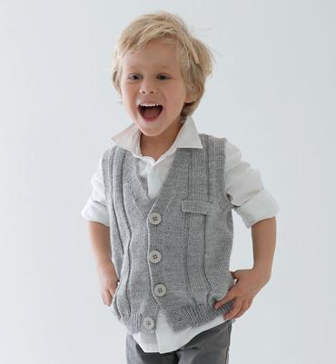 modele tricot gilet sans manche garcon