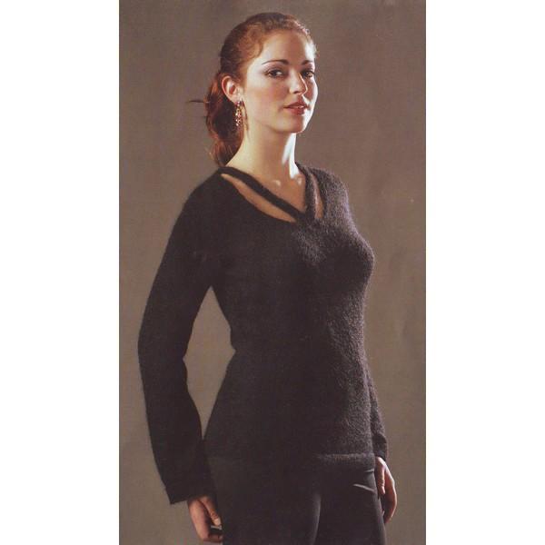 modèle tricot pull col v