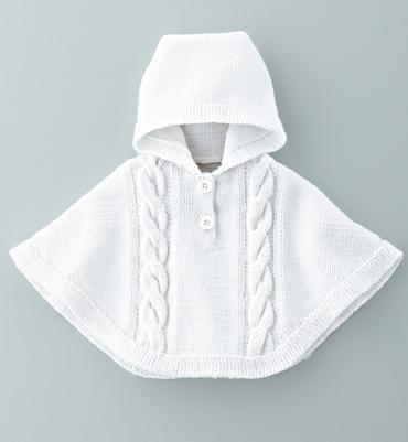 modele tricot gratuit poncho bebe