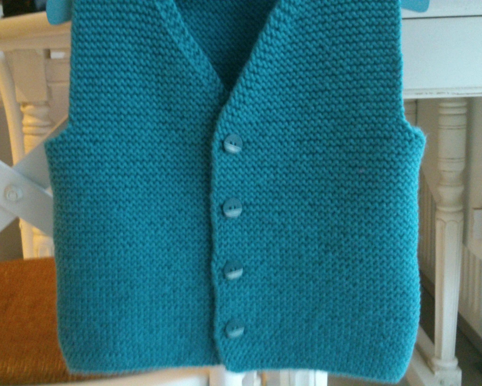Mod le tricot gilet sans manche garcon - Grosse laine pour tricoter sans aiguille ...