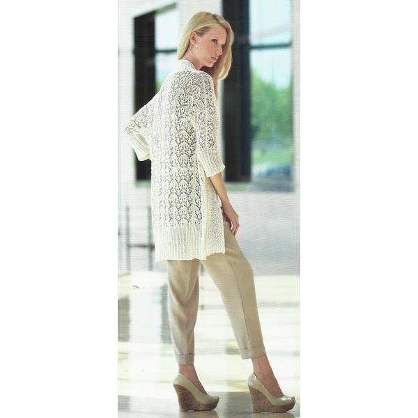 modèle tricot gratuit gilet long femme