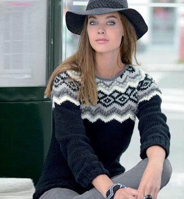 modele tricot pull jacquard femme. Black Bedroom Furniture Sets. Home Design Ideas
