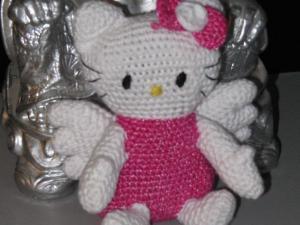 modèle chausson tricot hello kitty