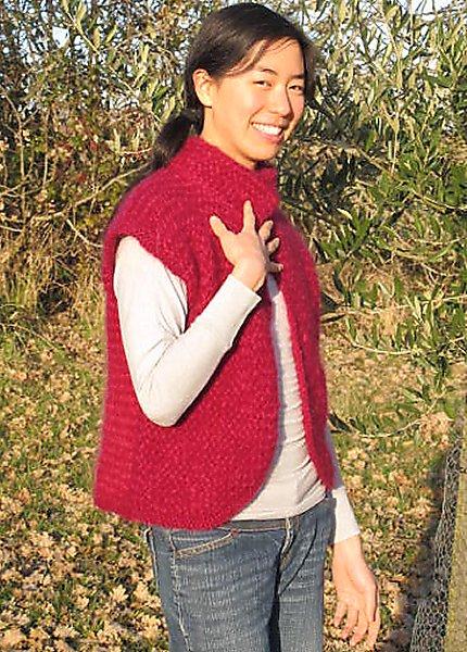 Mod le tricot pull sans manche femme - Tricot sans aiguille ...