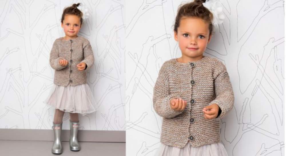 modèle tricot gilet fillette 6 ans
