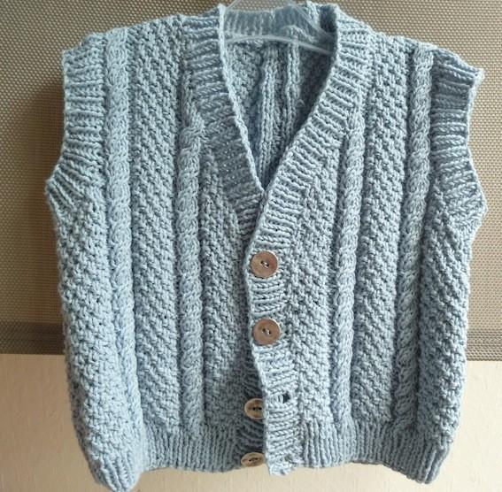 Patron tricot gilet sans manche garcon - Tricot sans aiguille ...
