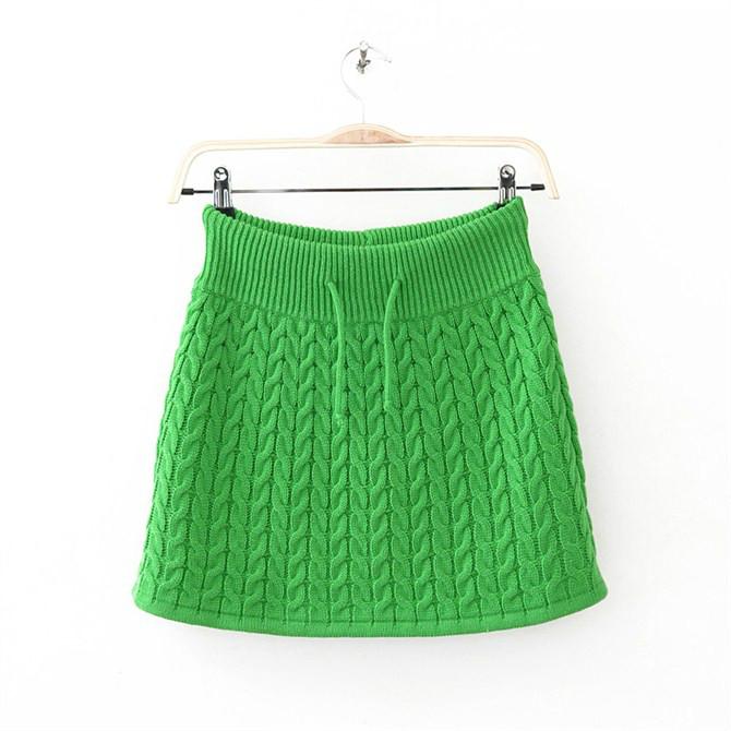 jupe au tricot