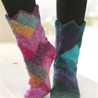 modèle tricot chaussette laine