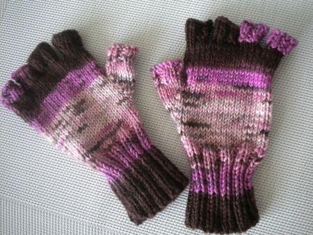 comment tricoter des mitaines avec doigts