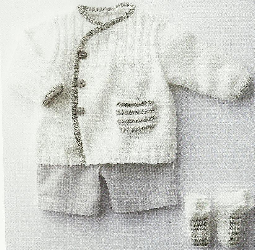 Mod le tricot gilet layette gratuit - Cote 2 2 tricot ...