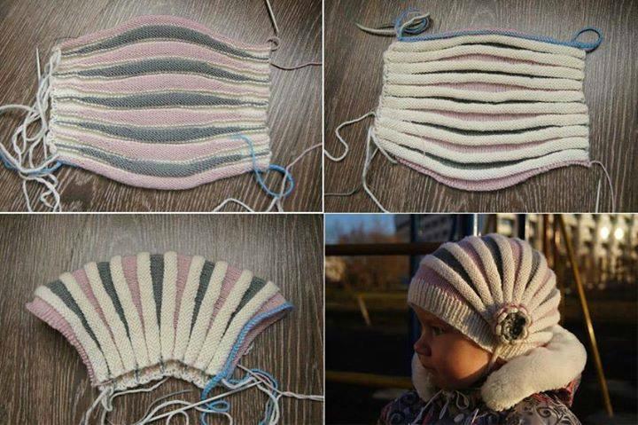modèle tricot bonnet aiguille 4