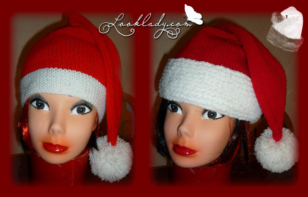 4b53f9506262 modèle tricot bonnet pere noel