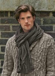 modèle tricot gilet irlandais homme
