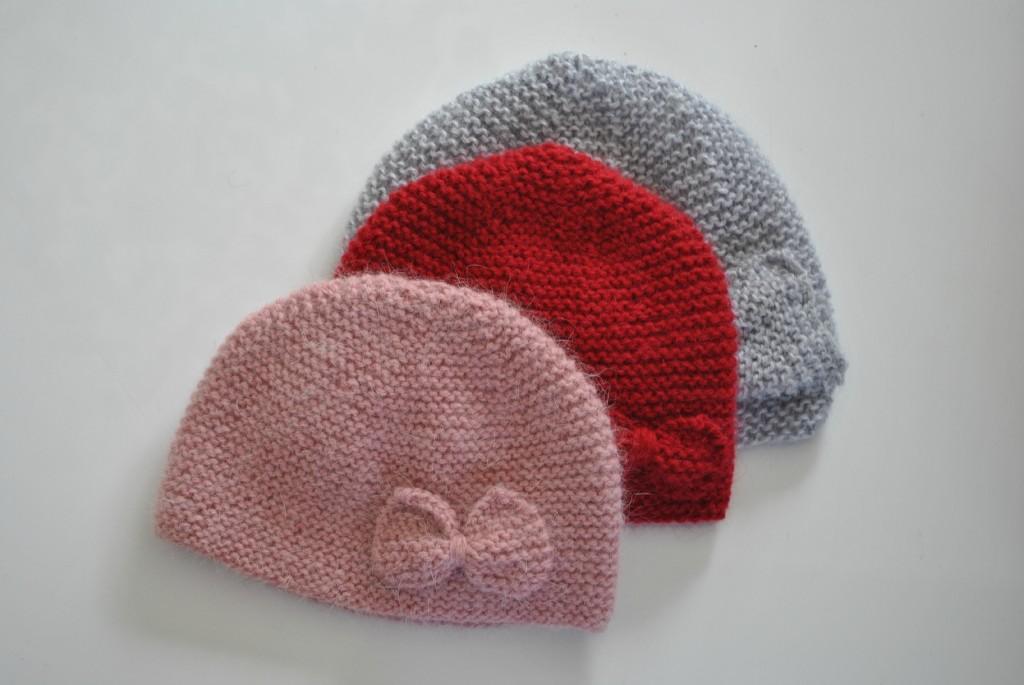 tricoter bonnet bebe fille