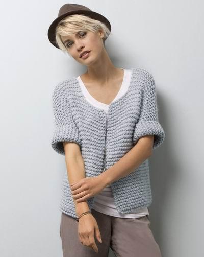 modèle tricot gilet coton