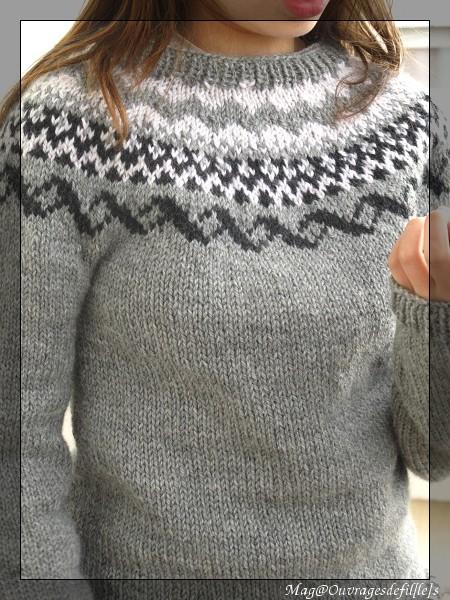 modele de pull norvegien a tricoter