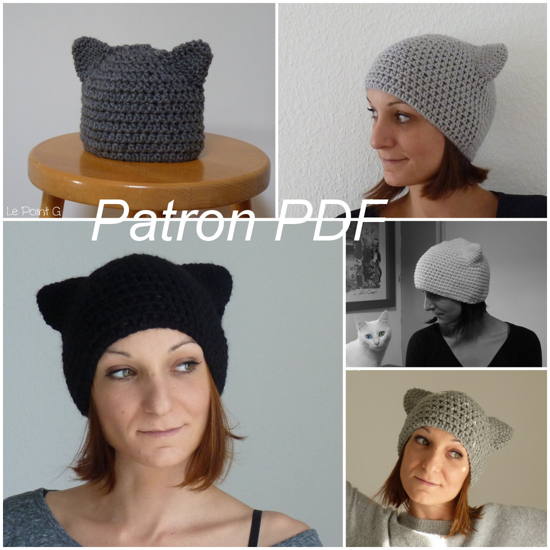 patron couture bonnet chat