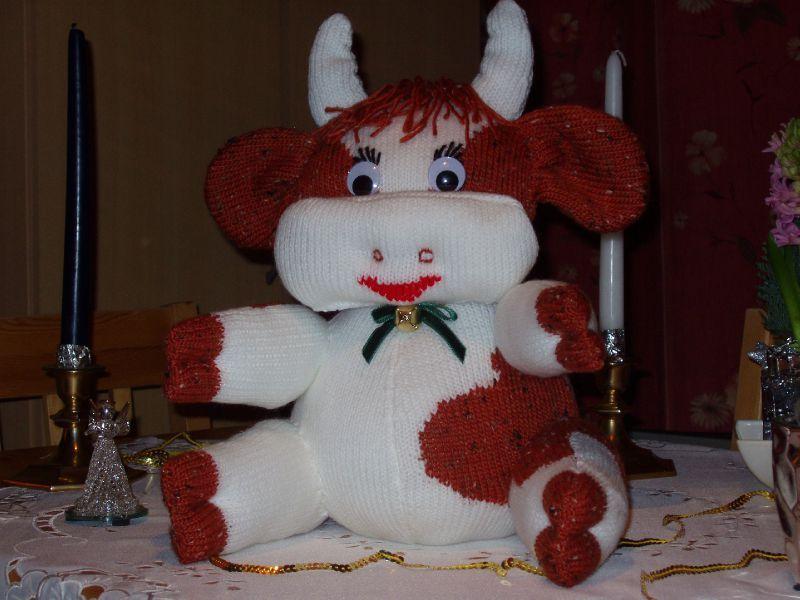 modèle tricoter une vache