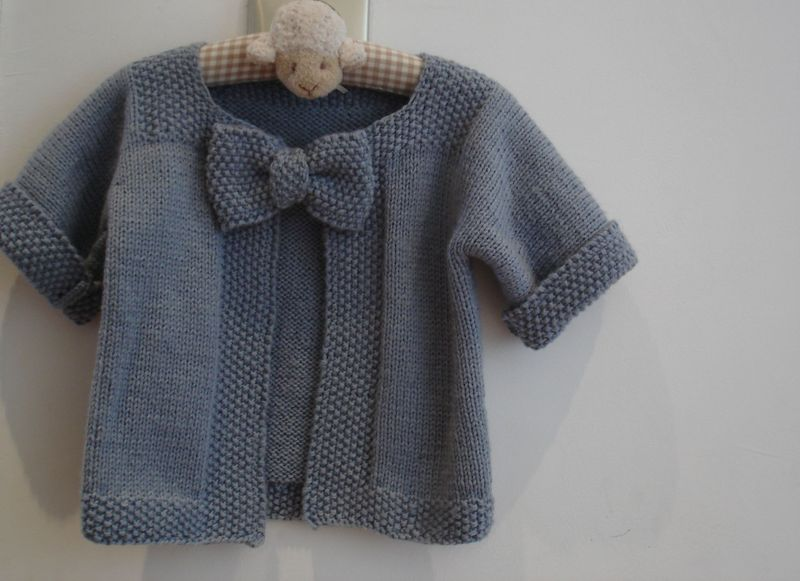 modèle gratuit tricot gilet 18 mois