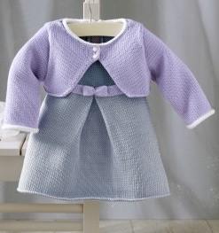 modele tricot robe bebe 1 mois