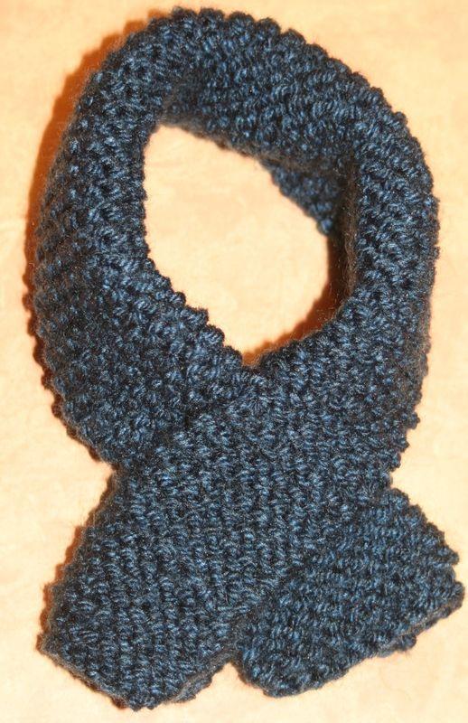 patron tricot foulard bebe