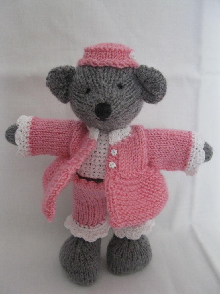 Mod le tricot doudou elephant - Doudou facile a realiser ...