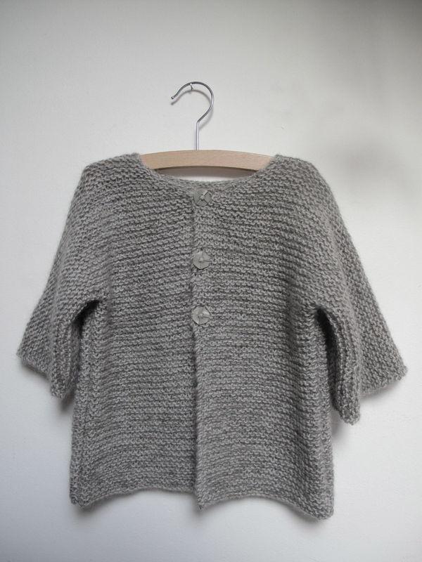 Kit gilet pour fille de la taille 2/3 à 10/11 ans  Kit à tricoter