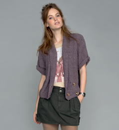 Modele tricot veste courte femme