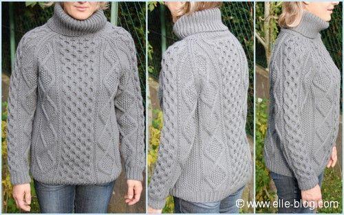 modeles de pull irlandais a tricoter