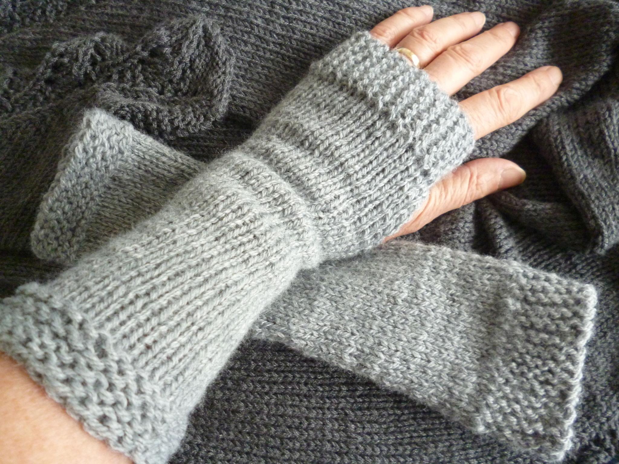 modèle tricot mitaine adulte