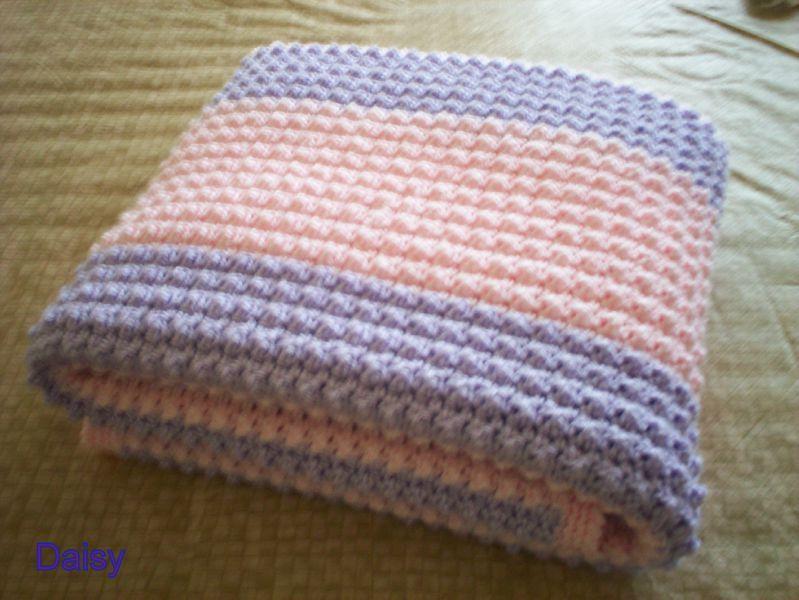 patron couverture bébé au tricot