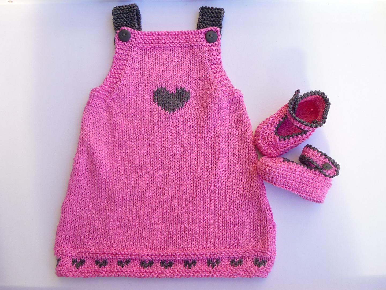 Mod le robe b b au tricot - Robe bebe en crochet avec grille ...