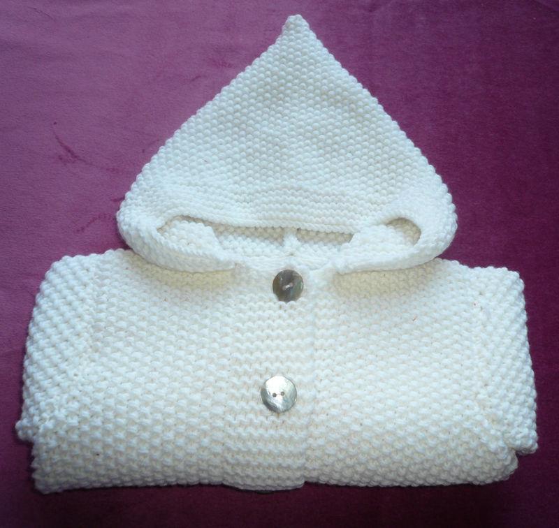 paletot bébé a tricoter avec explication
