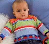 modele tricot bebe pingouin