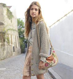 modèle tricot veste laine