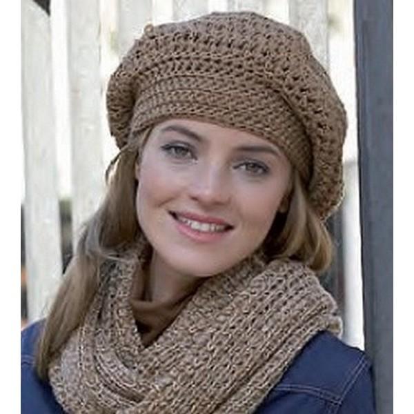 modele tricot bonnet large