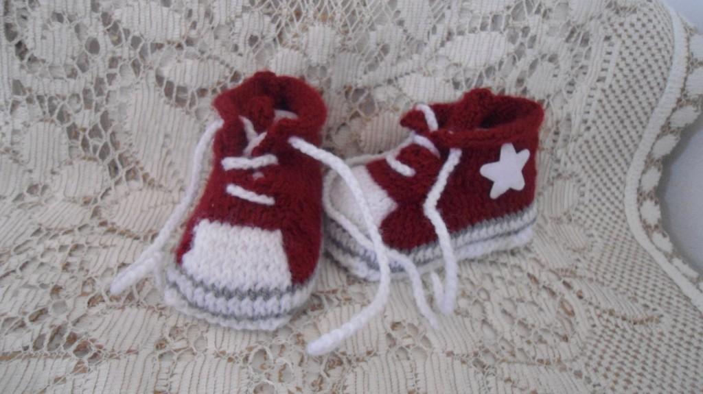 modele chausson en tricot